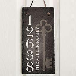 House Key Address Slate Plaque
