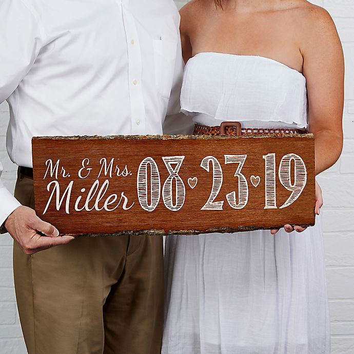 Alternate image 1 for Our Wedding Date Basswood Plank Sign
