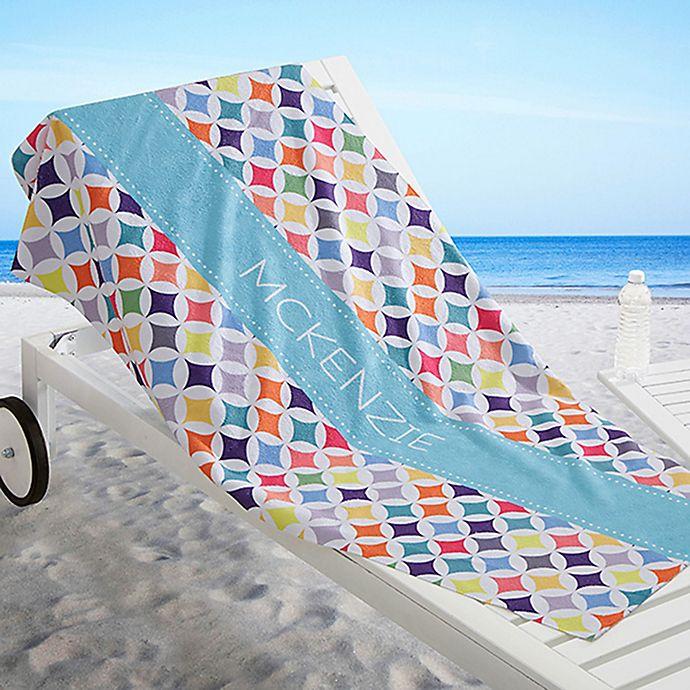 Alternate image 1 for Geometric Beach Towel