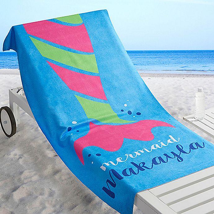 Alternate image 1 for Mermaid Life Beach Towel