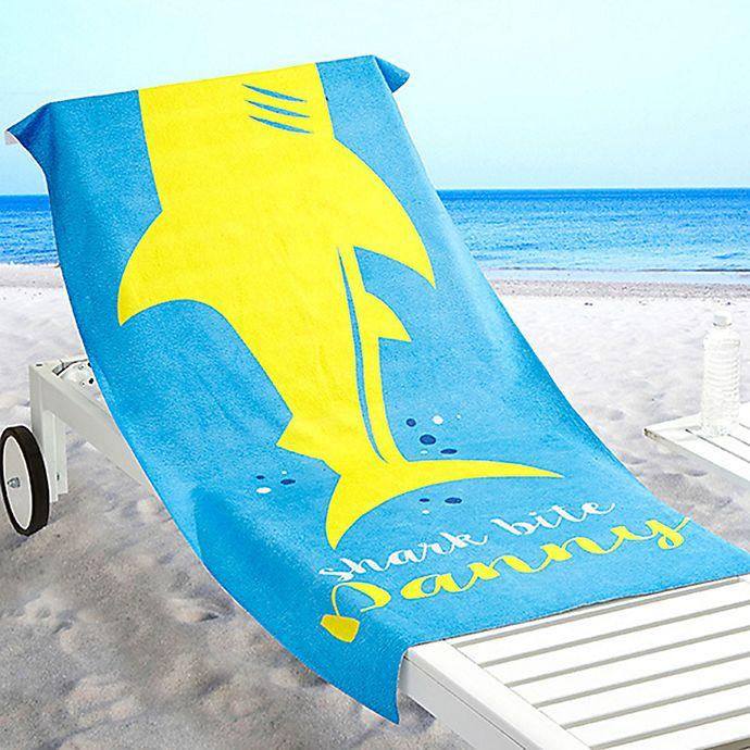 Alternate image 1 for Shark Life Beach Towel