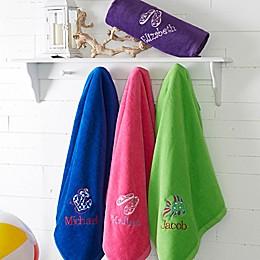 Beach Fun! Beach Towel in Blue
