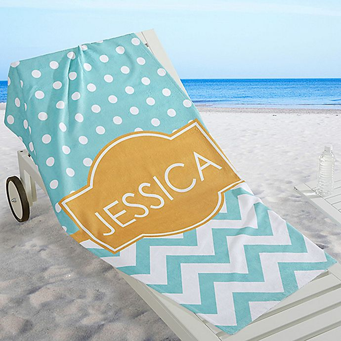 Alternate image 1 for Preppy Chic Beach Towel