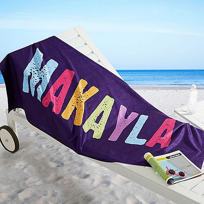 Alternate image 1 for All Mine! Beach Towel