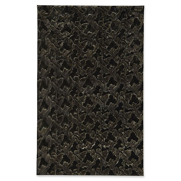 Alternate image 1 for Capel Rugs Cozy 5-Foot x 8-Foot Shag Area Rug in Black