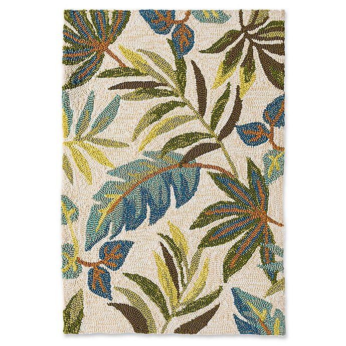 Blue Grass Indoor/Outdoor Rug In Ivory/Multi