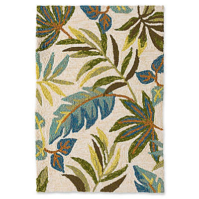 Blue Grass Indoor/Outdoor Rug in Ivory/Multi