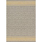 Magnolia Home by Joanna Gaines Emmie Kay 5-Foot x 7-Foot 6-Inch Area Rug in Grey/Maize