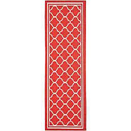 Safavieh Trellis 2-Foot 3-Inch x 18-Foot Indoor/Outdoor Runner in Red/White