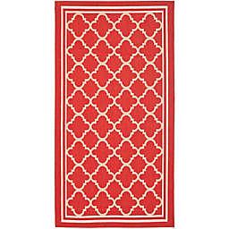 Safavieh Trellis 2-Foot 7-Inch x 5-Foot Indoor/Outdoor Area Rug in Red/White