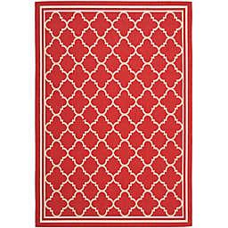 Safavieh Trellis 4-Foot x 5-Foot 7-Inch Indoor/Outdoor Area Rug in Red/White