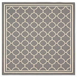 Safavieh Trellis 6-Foot7-Inch Square Indoor/Outdoor Area Rug in Anthracite