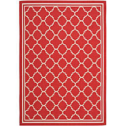Safavieh Trellis 6-Foot 7-Inch x 9-Foot 6-Inch Indoor/Outdoor Area Rug in Red/White