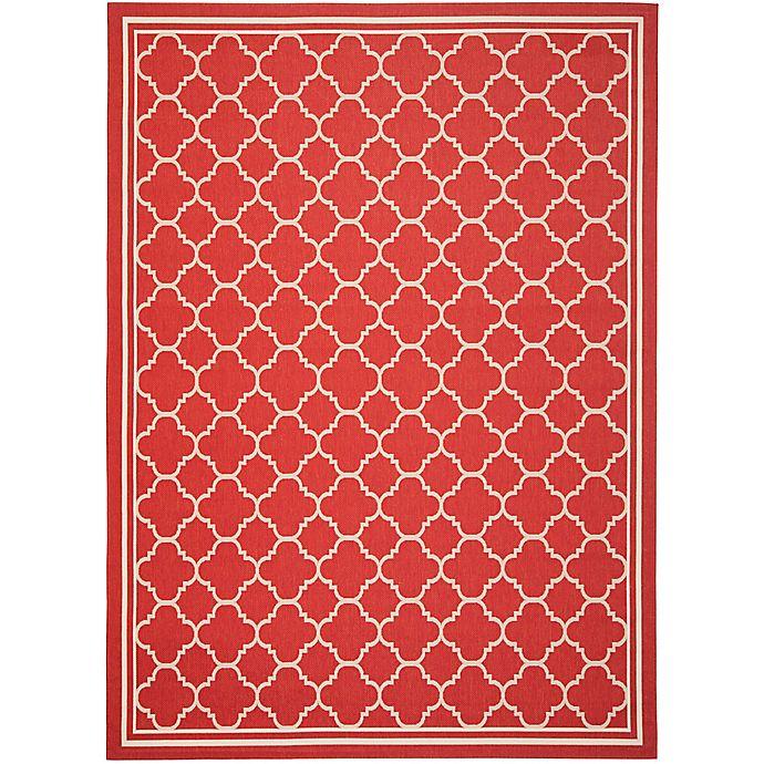 Alternate image 1 for Safavieh Trellis is 9-Foot  x 12-Foot Indoor/Outdoor Area Rug in Red/White