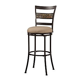Hillsdale Henning Indoor/Outdoor Counter Stool in Sunbrella® Canvas Brown