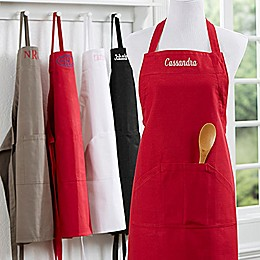 Embroidered Name Kitchen Apron