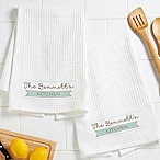 Our Family Waffle Weave Kitchen Towels (Set of 2)