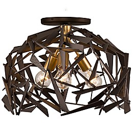 Varaluz® Bermuda 3-Light Flush-Mount Ceiling Fixture