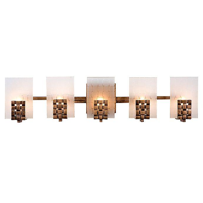 Alternate image 1 for Varaluz Dreamweaver 5-Light Vanity Light in Copper