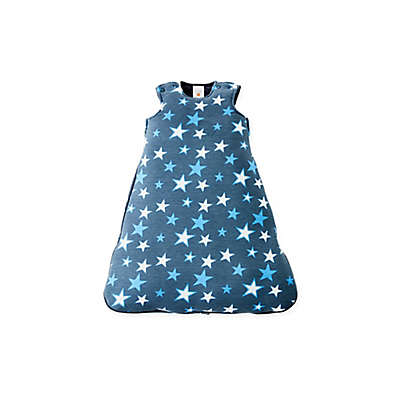 Gunamuna Gunapod® Newborn Stars Luxury Duvet Swaddle Sack with WonderZip® in Blue