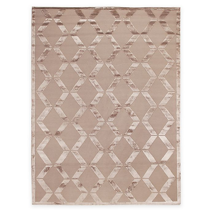 Alternate image 1 for Exquisite Rugs Metro Velvet 6-Foot x 9-Foot Rug in Beige