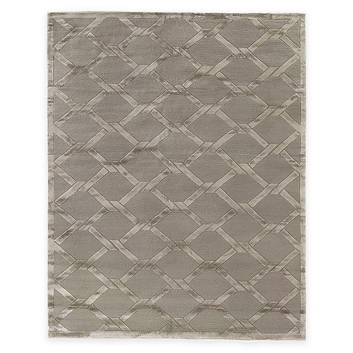 Alternate image 1 for Exquisite Rugs Metro Velvet Twist 6-Foot x 9-Foot Area Rug in Grey/Brown