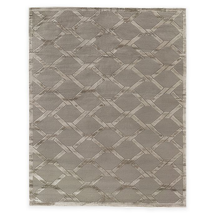 Alternate image 1 for Exquisite Rugs Metro Velvet Twist 8-Foot x 10-Foot Area Rug in Grey/Brown