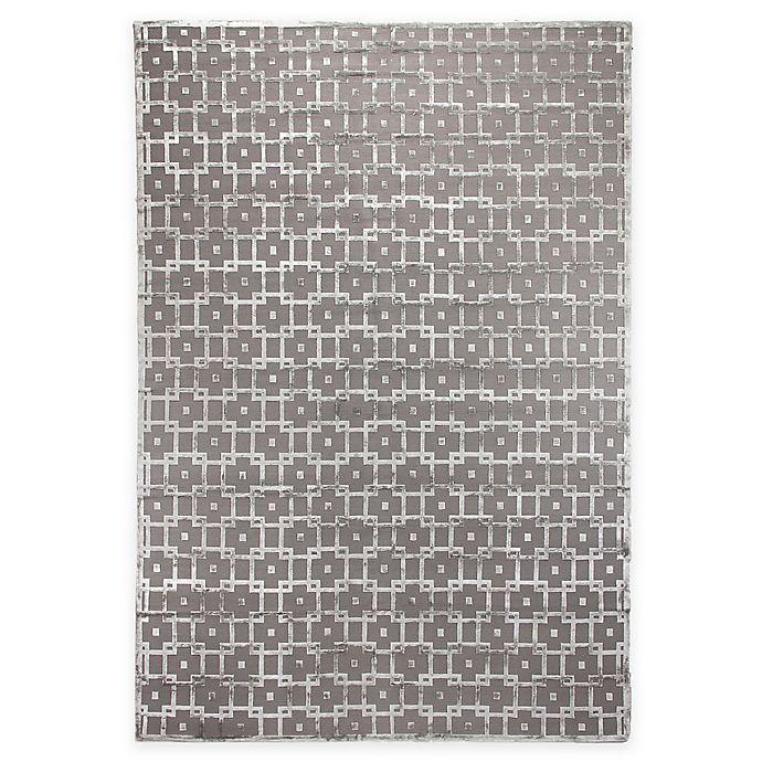 Alternate image 1 for Exquisite Rugs Metro Velvet Linked Square Rug in Silver