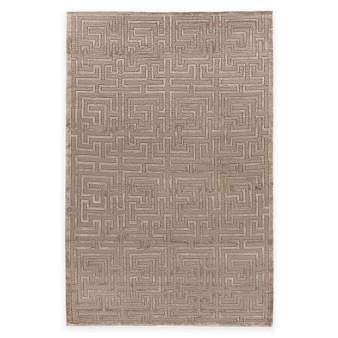Alternate image 1 for Exquisite Rugs Metro Velvet Geometric Maze 6-Foot x 9-Foot Area Rug in Brown
