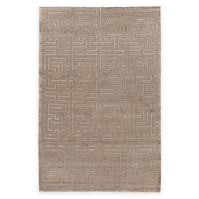 Alternate image 1 for Exquisite Rugs Metro Velvet Geometric Maze 8-Foot x 10-Foot Area Rug in Brown