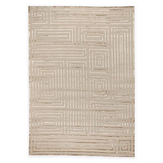 Alternate image 1 for Exquisite Rugs Metro Velvet Geometric Square 8-Foot x 10-Foot Area Rug in Beige