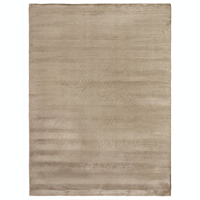 Alternate image 1 for Exquisite Rugs Honeycomb 6-Foot x 9-Foot Area Rug in Khaki