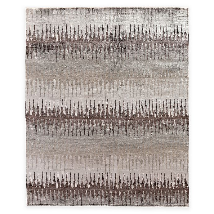 Alternate image 1 for Exquisite Rugs Ikat 8-Foot x 10-Foot Area Rug in Grey/Brown