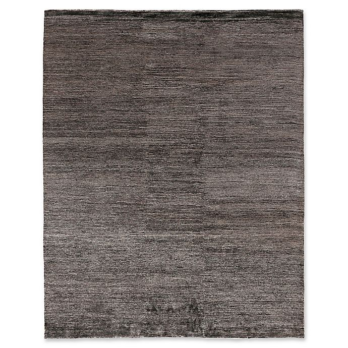 Exquisite Rugs Crush Area Rug in Charcoal/Grey | Bed Bath ...