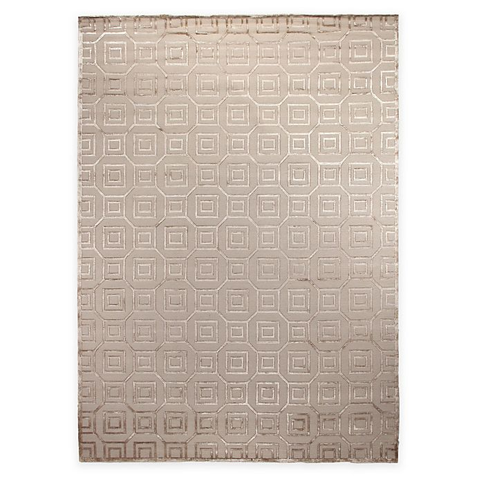 Alternate image 1 for Exquisite Rugs Metro Velvet 8-Foot x 10-Foot Area Rug in Silver
