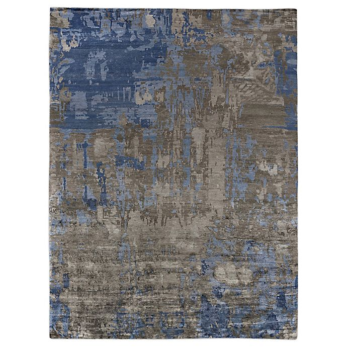 Alternate image 1 for Exquisite Rugs Abstract Expressions 6-Foot x 9-Foot Area Rug in Blue/Grey