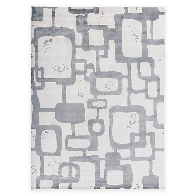 Alternate image 1 for Exquisite Rugs Koda Geometric 8-Foot x 10-Foot Area Rug in Ivory/Blue