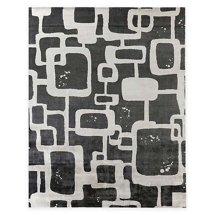 Alternate image 1 for Exquisite Rugs Koda Geometric 8-Foot x 10-Foot Area Rug in Grey/Ivory