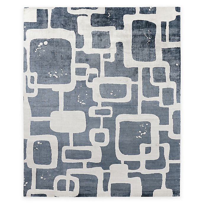 Alternate image 1 for Exquisite Rugs Koda Geometric 8-Foot x 10-Foot Area Rug in Denim