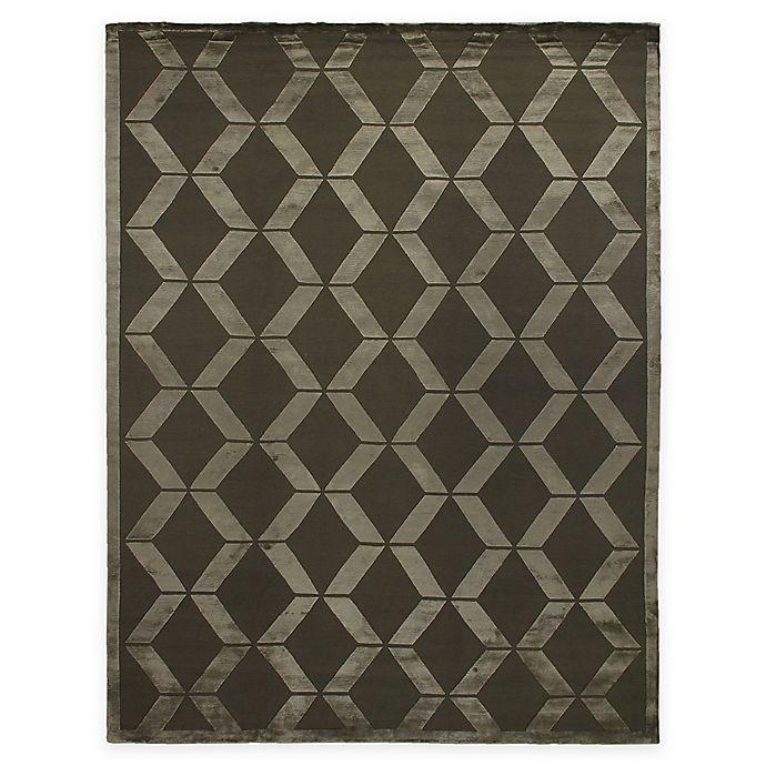 Alternate image 1 for Exquisite Rugs Metro Velvet Zig Zag 8-Foot x 10-Foot Area Rug in Khaki
