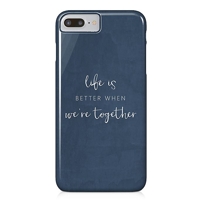 Alternate image 1 for Designs Direct Life Is Better Together Barely There Case for iPhone 7 Plus in Blue