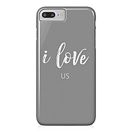 "Designs Direct ""I Love Us"" Barely There Case for iPhone 7 Plus in Grey"