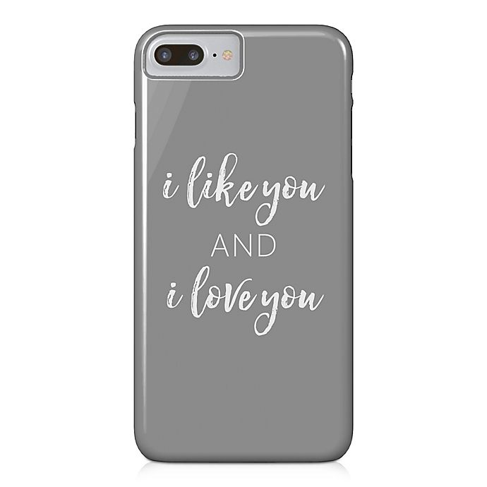 Alternate image 1 for Designs Direct Like and Love You Barely There Case for iPhone 7 Plus in Grey