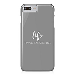 Designs Direct Explore Travel Live Barely There Case for iPhone 7 Plus inGrey