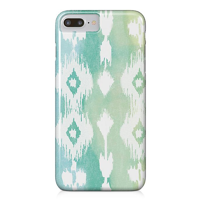 Alternate image 1 for Designs Direct Watercolor Ikat Barely There Case for iPhone 7 Plus in Green