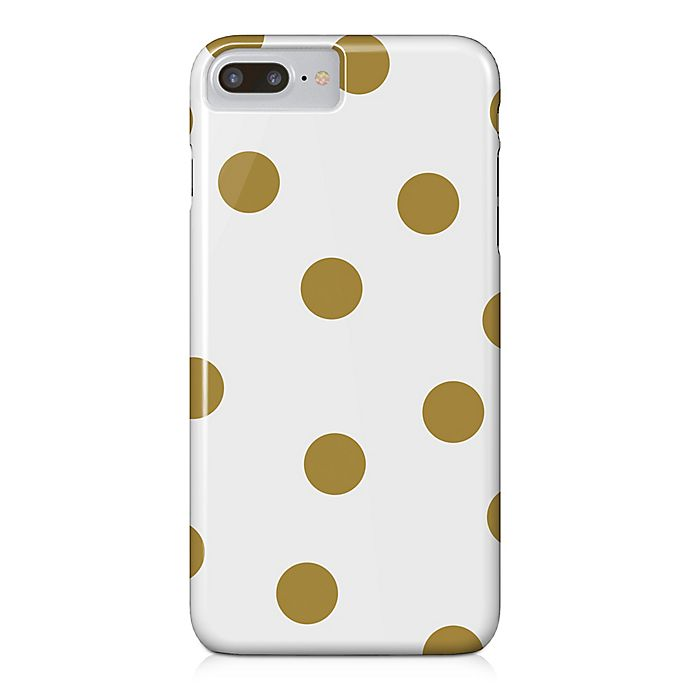 Alternate image 1 for Designs Direct Pops Barely There Case for iPhone 7 Plus in Gold/White
