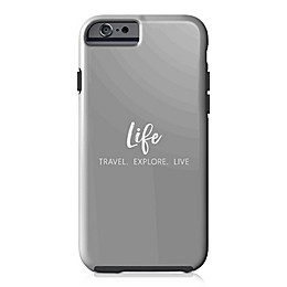 Designs Direct Explore Travel Live Tough Case for iPhone 6/6S in Grey