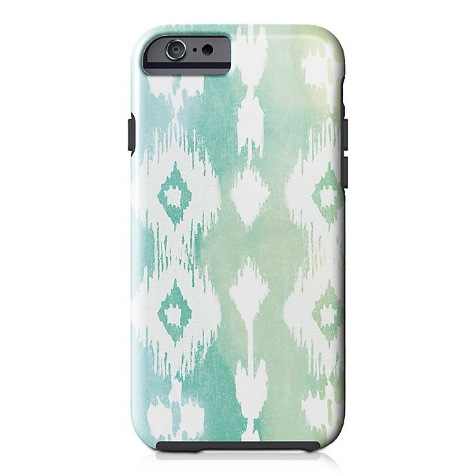 Alternate image 1 for Designs Direct Watercolor Ikat Tough Case for iPhone 6/6S in Green