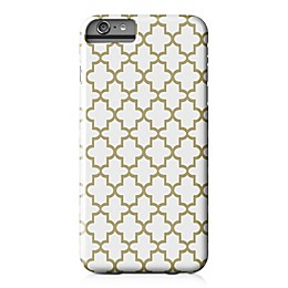 Designs Direct Quatrefoil Barely There Case for iPhone 6 Plus in Gold/White