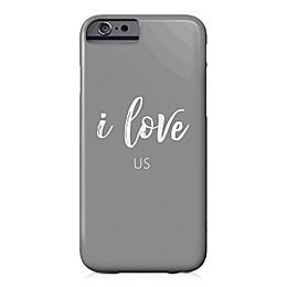 "Designs Direct ""I Love Us"" Barely There Case for iPhone 6/6S in Grey"